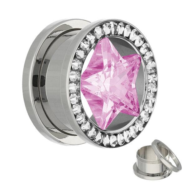 Kristall Stern Plug - Rosa Stern - Schutzschicht