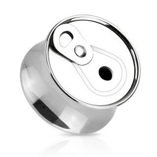 Ohr Plug - Stahl - Silber - Dose