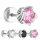 Piercing Fake Plug - Silber - Kristall - Verzierung