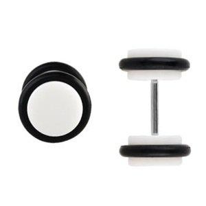 Piercing Fake Plug - Kunststoff - Gummi - Weiß