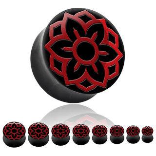 Horn Plug - Lotusblüte - Rot