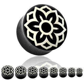 Horn Plug - Lotusblüte - Weiß
