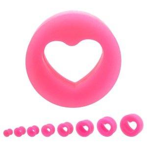 Silikon Plug - Herz - Pink