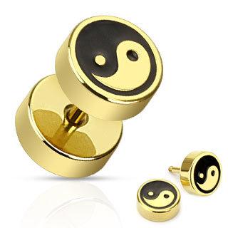 Fake Plug - Gold - Ying&Yang