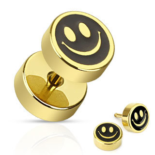 Fake Plug - Gold - Smiley
