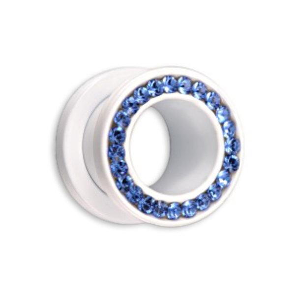 Supernova - Flesh Tunnel - Stahl - Weiß - Sapphire