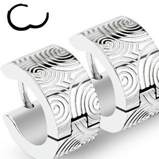 Edelstahl Creolen Ohrringe - Silber - Kreise