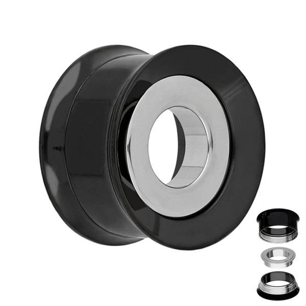 Flesh Tunnel - Stahl - Ring - Silber