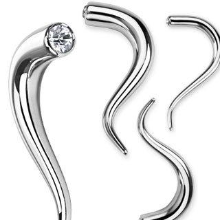 Schnecke - Stahl - Silber - Kristall