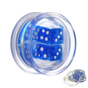 Ohr Plug - Kunststoff - Würfel - Blau