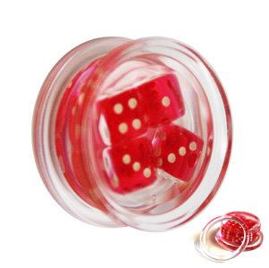 Ohr Plug - Kunststoff - Würfel - Rot