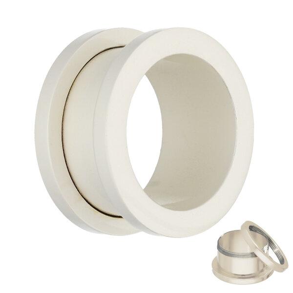 Flesh Tunnel - Stahl - Weiß - Pearl