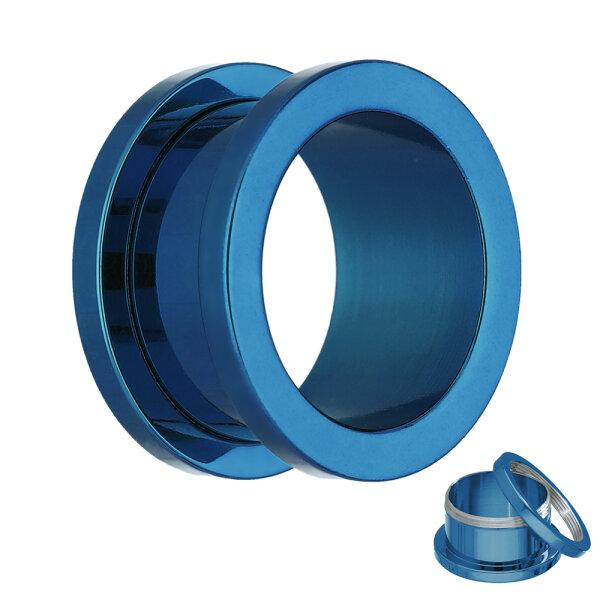 Flesh Tunnel - Stahl - Blau