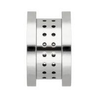 Flesh Tunnel - Stahl - Silber - Atmungsaktiv