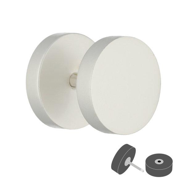 Piercing Fake Plug - Weiß - Pearl