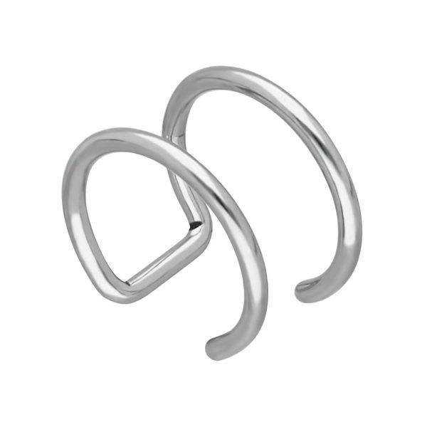 Ear Cuff - Silber - 2 Ringe