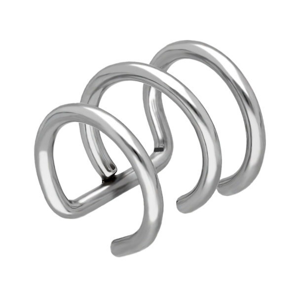 Ear Cuff - Silber - 3 Ringe
