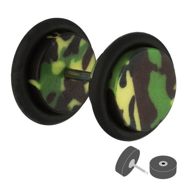 Piercing Fake Plug - Kunststoff - Camouflage