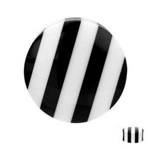 Ohr Plug - Horn - Schwarz - Weiß