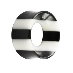 Flesh Tunnel - Horn - Schwarz - Weiß