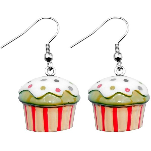 Ohrringe - Hänger - Muffin mit Glasur