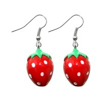 Ohrringe - Hänger - Erdbeere