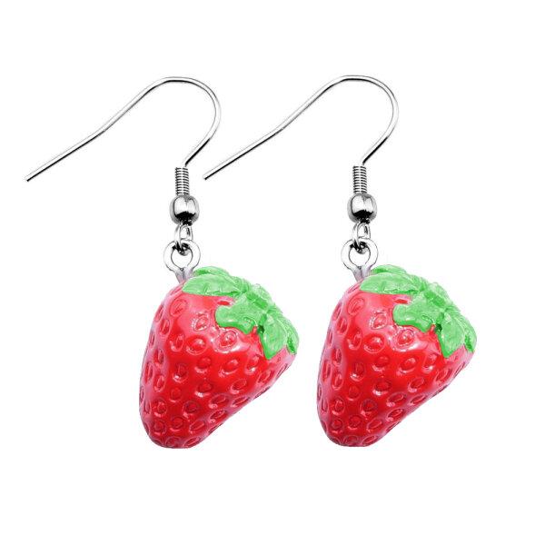 Ohrringe - Hänger - Erdbeeren