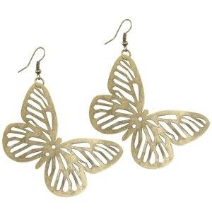 Ohrringe - Hänger - Schmetterling - Antik