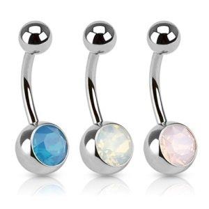 Bauchnabelpiercing - Kristall - Opalith