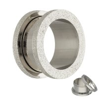 Flesh Tunnel - Stahl - Silber - Diamant