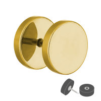 Piercing Fake Plug - Gold