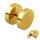 Piercing Fake Plug - Gold