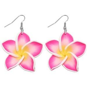 Ohrringe - Hänger - Blume - Pink