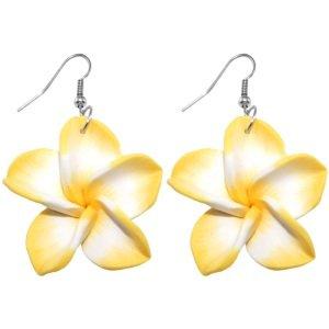 Ohrringe - Hänger - Blume - Gelb