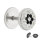 Fake Plug - Silber - Kristall - Blume - Schwarz