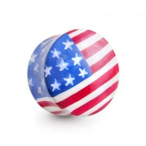 Horn Plug - Flagge - USA