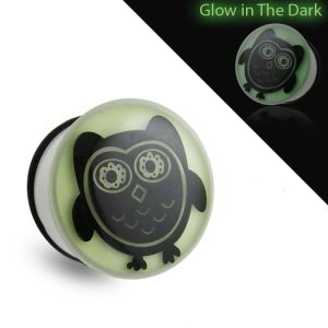 Picture Plug - Glow in the dark - Eule