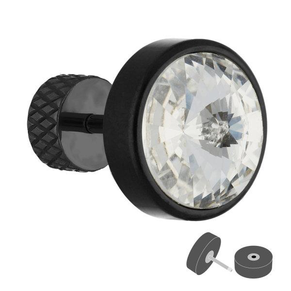 Fake Plug - Schwarz - Kristall - Klar