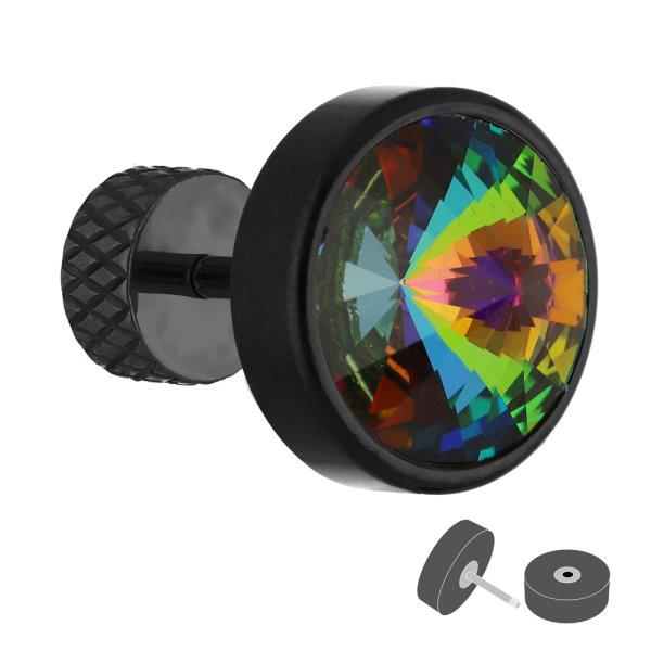 Fake Plug - Schwarz - Kristall - Bunt
