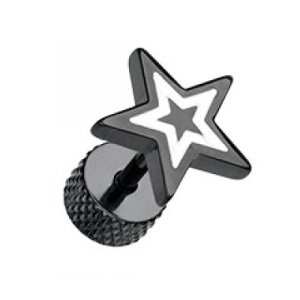Fake Plug - Schwarz - Stern - Weiß