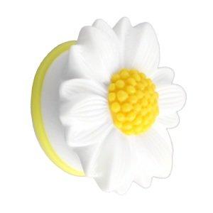 Ohr Plug - Kunststoff - Gänseblümchen - Weiß