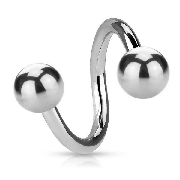Piercing Spirale - Stahl - Silber - 1.2mm