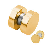Magnet Fake Plug - Stahl - Gold