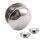 Magnet Fake Plug - Stahl - Silber - Halbrund