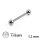 Piercing Stab - Titan - Silber - 1.2mm