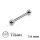 Piercing Stab - Titan - Silber - 1.6mm