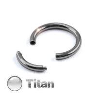 Piercing Segmentring - Titan - Silber - 1.2mm