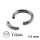 Piercing Segmentring - Titan - Silber - 1.6mm