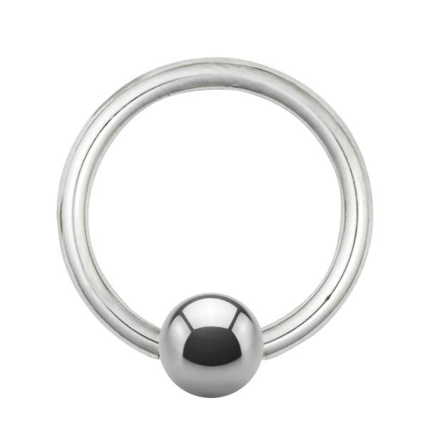 Piercing Klemmring - Titan - Silber - 1.2mm