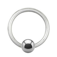 Piercing Klemmring - Titan - Silber - 1.0mm